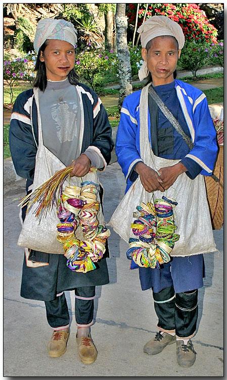 Black Musser (Lahu Na) hilltribe ladies handicrafts