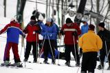 So I quickly left Haspin Acres and caught up with the group as they went thru ski instructions.