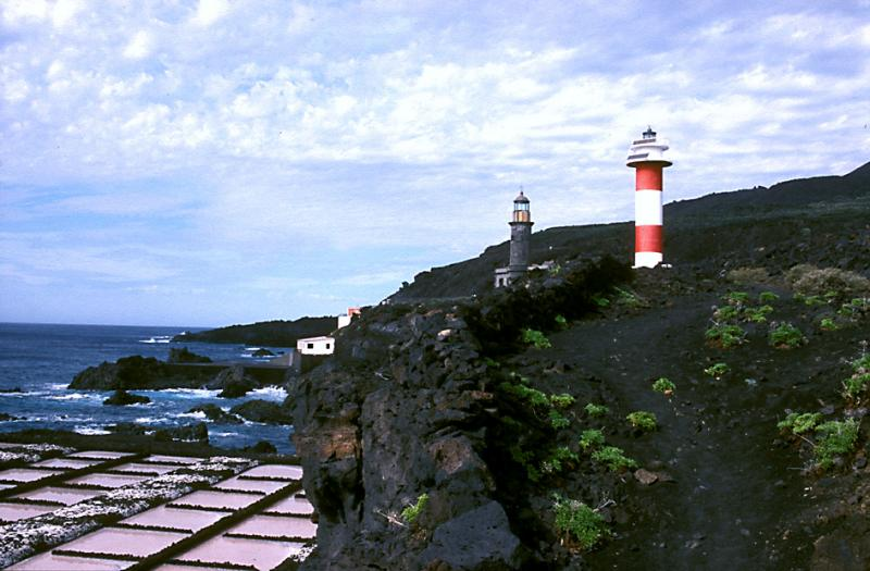 Old and new Lighthouse of Fuencaliente