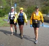 Pat, Karen & Barb finish