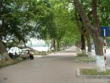 Sidewalk around Hoan Kiem lake-Ha Noi