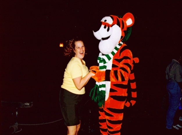 I bounced with Tigger!!!