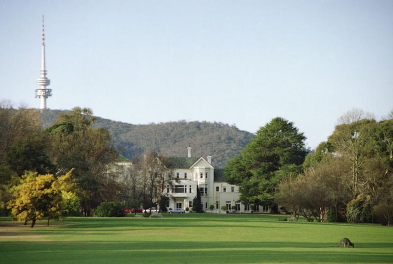 Government House, with kangaroo