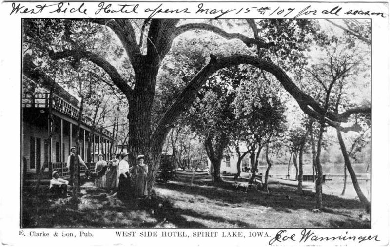 West Side Hotel Spirit Lake 1907
