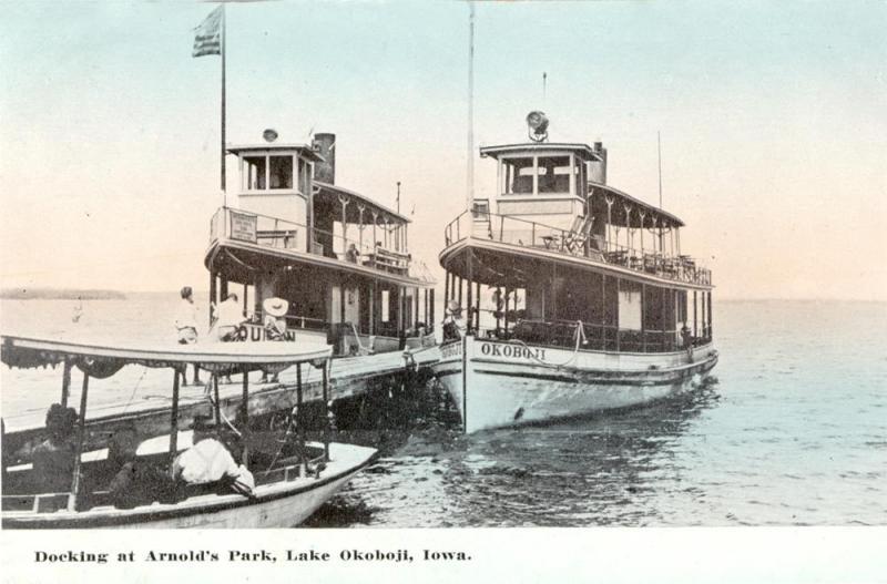 Docking at Arnolds Park