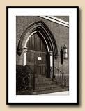 Church Door with Shadows