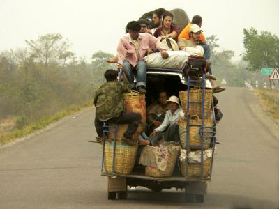 Full Bus, en route to Pakse, Laos, 2005