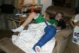 Casie at home with the second cast