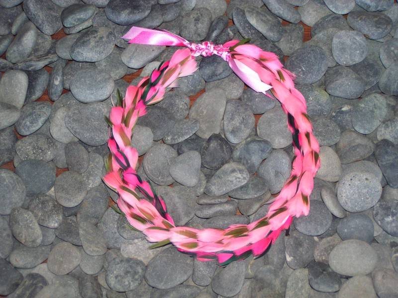 Pink Feather Lei