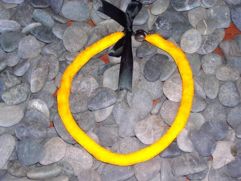 Yellow Feather Lei