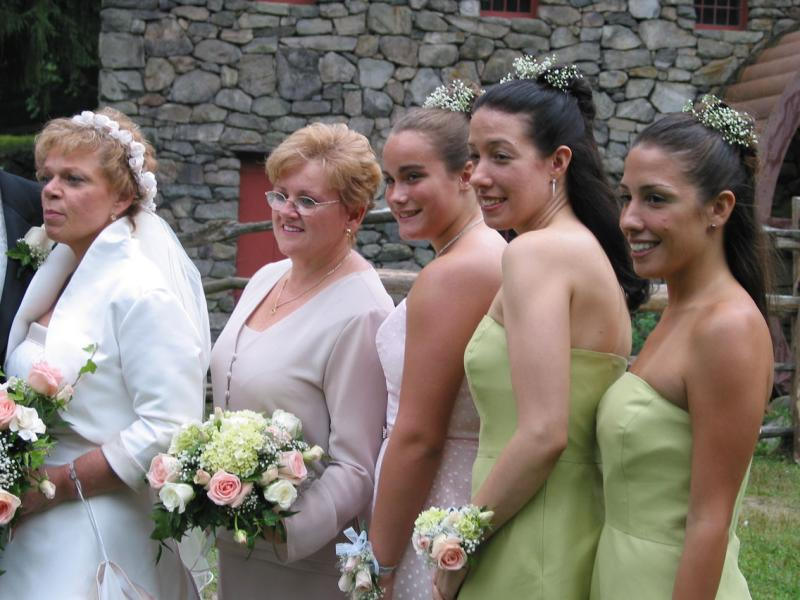Peggy, and her bridesmaids