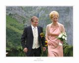 Bräutigam und Brautführerin