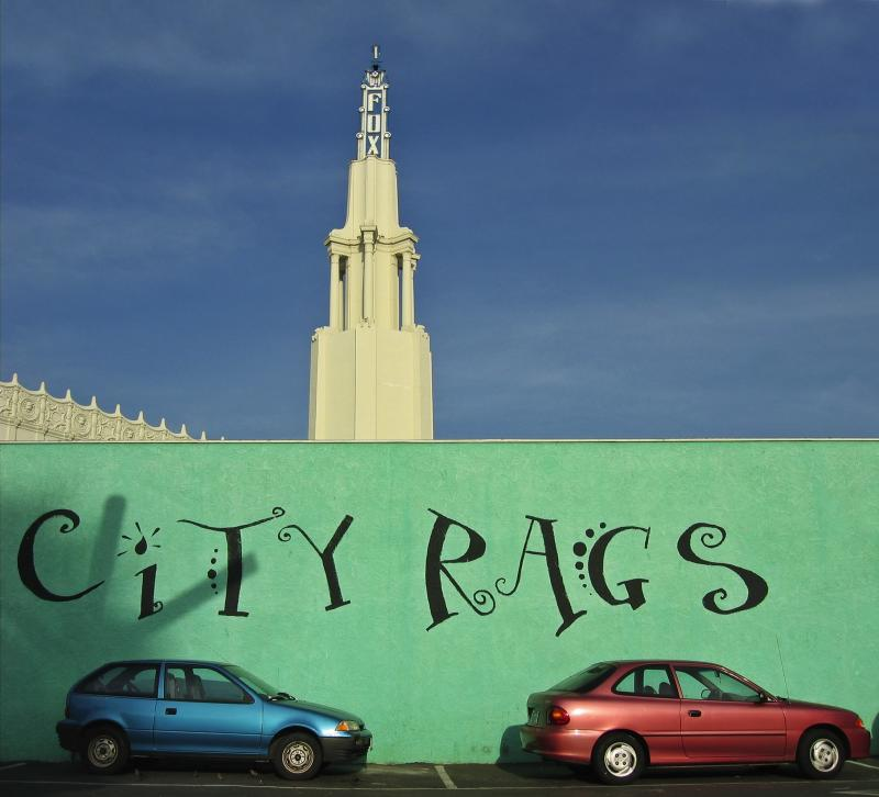 City Rags and Fox Theater tower