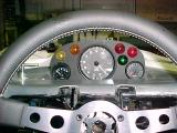 View of the dash hru the steering wheel