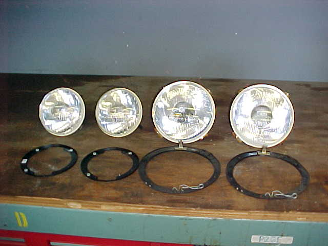 Set of Orginal CIBIE headlights with retaining rings