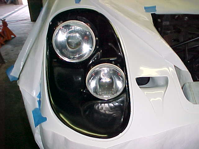 Kent finished installing the Headlights, Front view