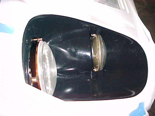 Headlights top view