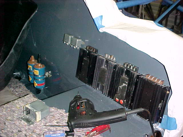 The CD ignition units mounted