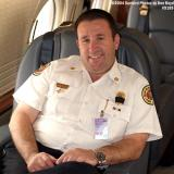 2004 - USCG C-37A Gulfstream V CG-01 - PBI Battalion Chief (LT, USCGR) Mike Arena onboard CG-01 stock photo #9189