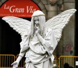 Human statue, Madrid