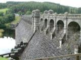 Lake Vyrnwy dam, dry