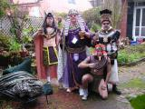 In The Courtyard, Antubis, King Tut, The Leopard King of Luxor and Our Drink Slave, Mojo.jpg