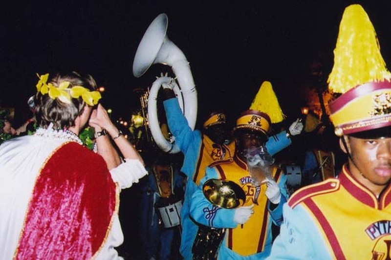 Tuba Player Exults On Bacchus Parade Route.jpg