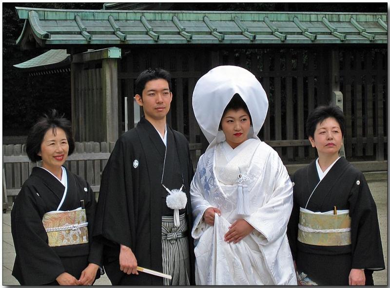 Wedding at the shrine