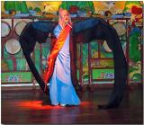 Korean folk dancer