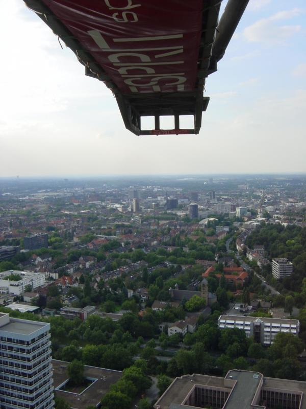 Bungee from the Floriantower, Dortmund, Germany