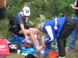 Rob Grant washes Rob Smith's feet