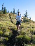 Tony C runs toward French Cabin