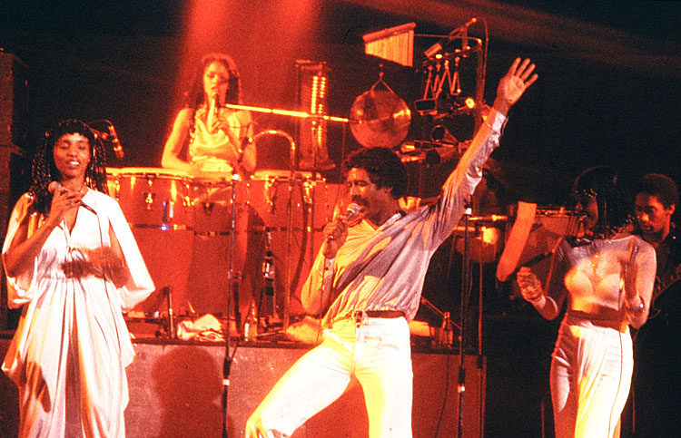 George Duke band: Lynn Davis, Napoleon Murphy Brock, Sheila Escovedo, Josie James, David Myles