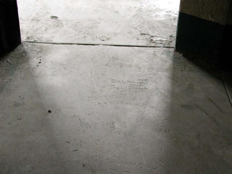 Alcatraz penitentiary convict graffiti