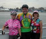 Trudy Hutter, John Chiarella & Roberta Grapperhaus on the ferry to Sandy Hook