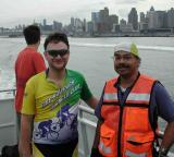 ...enjoying the ferry ride to New Jersey