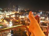 Top of the ferris wheel feet