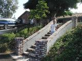 The steps that Gary designed and built...with one of my twin grandsons posing for me...