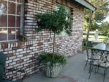 The patio at the front of the house.  Gary did all of the brick work on the house...