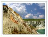 Coloured cliffs, Alum Bay, Isle of Wight (1730)