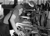 Veronica Foster making Bren in Inglis factory 1941