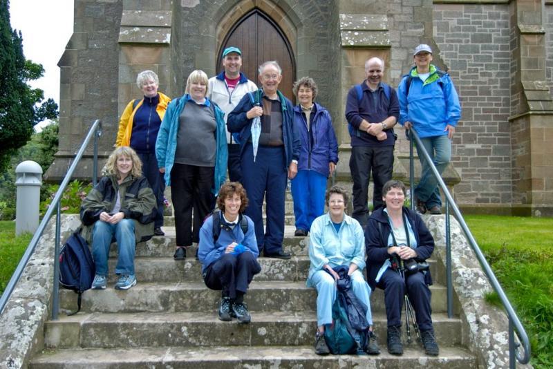 Group Outside Church