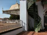 Stairway to balcony - Chettinad Palace