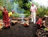 Starting the fire for the Mumu