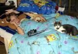 Casie, Buffy, and Kitty