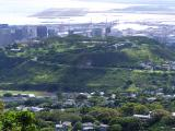 Punchbowl Cemetery from Tantalus