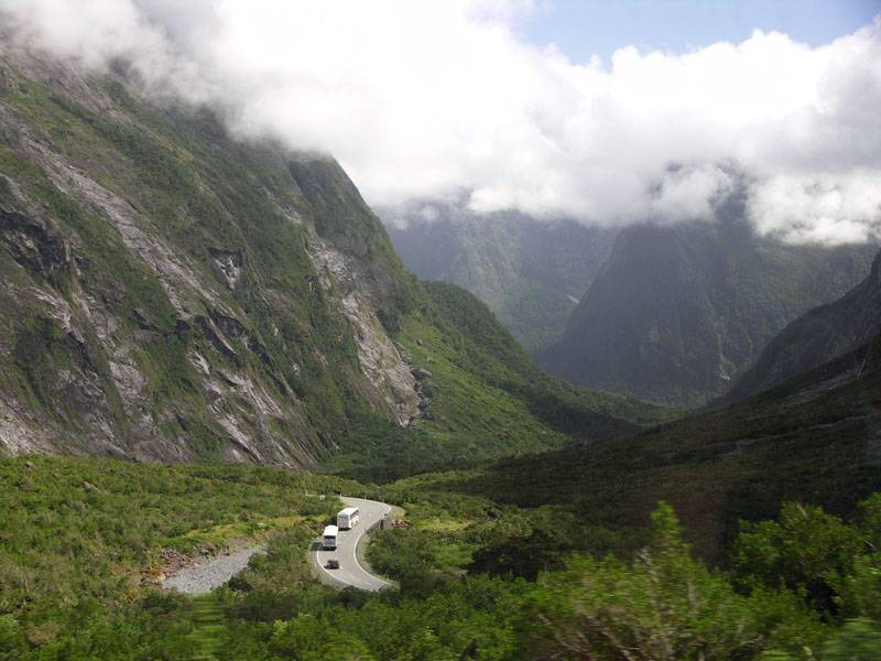 View from Homer tunnel