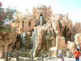 Very ancient fountain and falls, Universal Studios, Orlando, FL