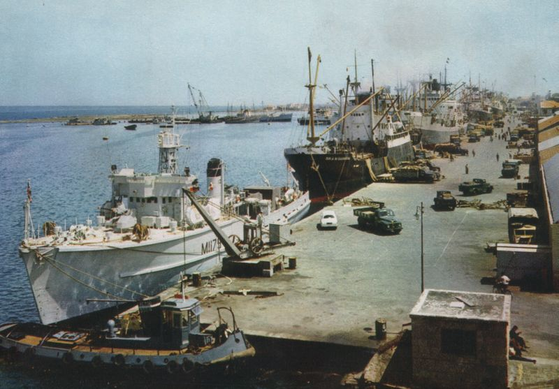 Famagusta Harbour (old photo)