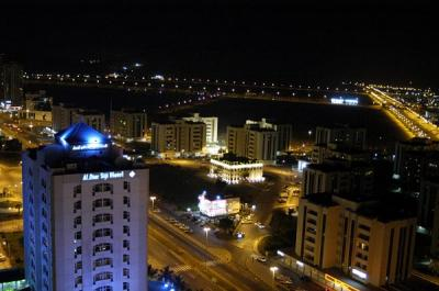 View NW at night